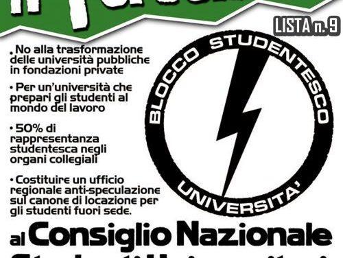 BS UNIVERSITA': PRESENTAZIONE CANDIDATURA CNSU