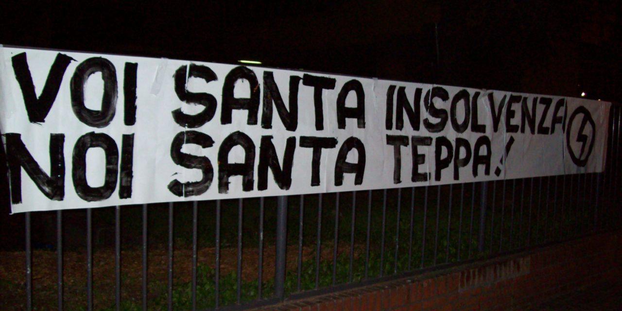 "BOLOGNA: ""Voi santa insolvenza, noi Santa Teppa"""