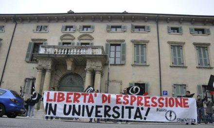 Verona: sit-in del BS contro le discriminazioni politiche in università