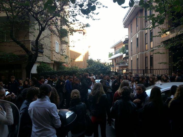 Blocco Studentesco: protesta a fianco degli studenti del liceo De Sanctis di Roma