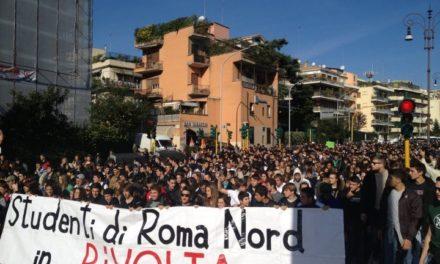 Roma: Blocco Studentesco, oggi in corteo insieme a 3000 studenti, bloccata Cassia e Corso Francia