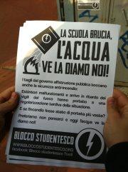 Tivoli: Blocco Studentesco, «La scuola brucia, l'acqua ve la diamo noi»
