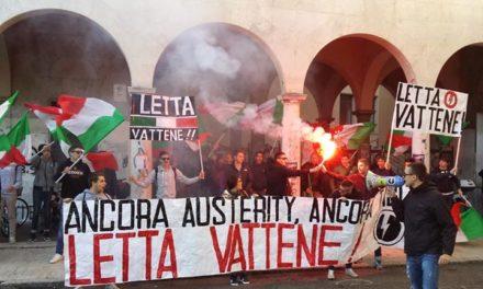 Ascoli Piceno: Sit-in ITCG Umberto I, «Ancora austerity, ancora tagli, Letta vattene!»