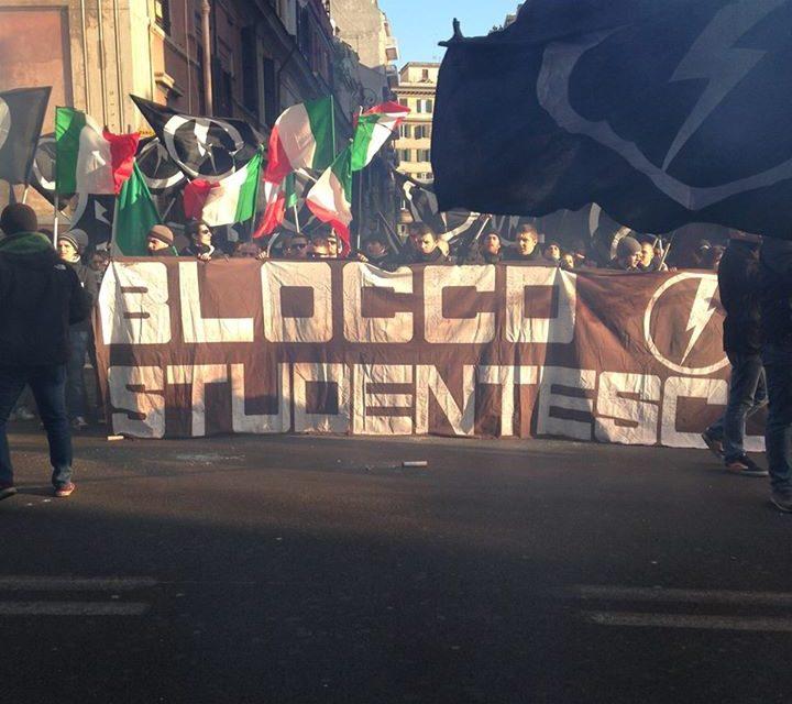 Roma, corteo di protesta davanti la sede della Consulta Provinciale degli Studenti