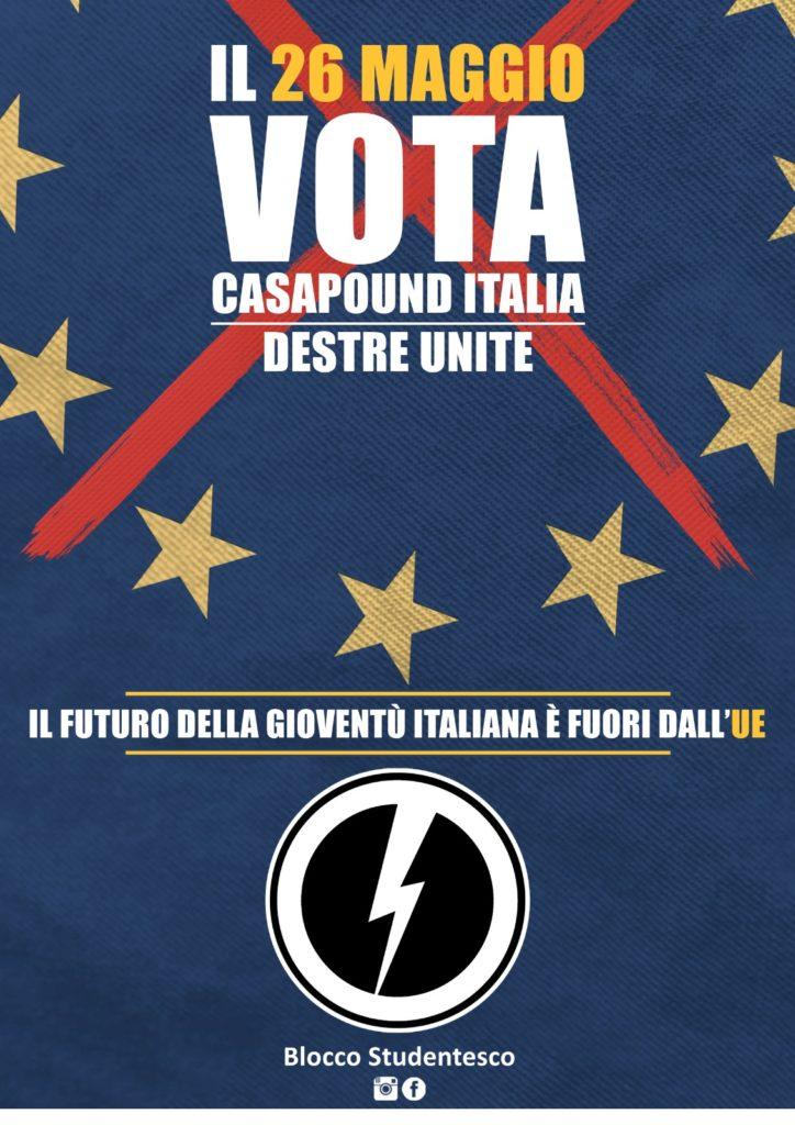 blocco studentesco ue vota casapound italia elezioni europee simone di stefano voto intenzione
