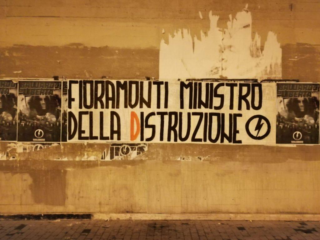 blocco studentesco azione contro ministro lorenzo finamonti greta ambiente distruzione latina