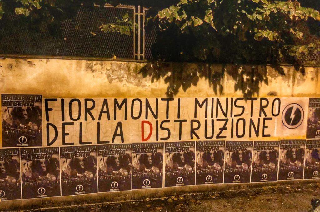 blocco studentesco azione contro ministro lorenzo finamonti greta ambiente distruzione firenze