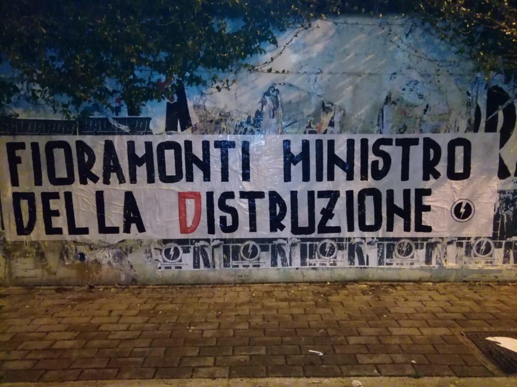 blocco studentesco azione contro ministro lorenzo finamonti greta ambiente distruzione pescara