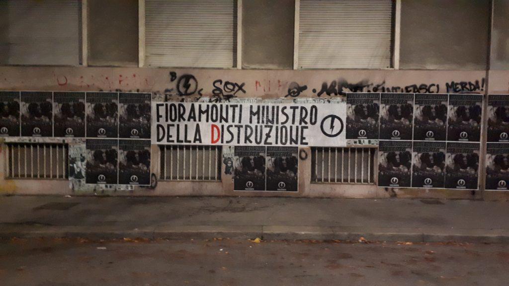 blocco studentesco azione contro ministro lorenzo finamonti greta ambiente distruzione torino