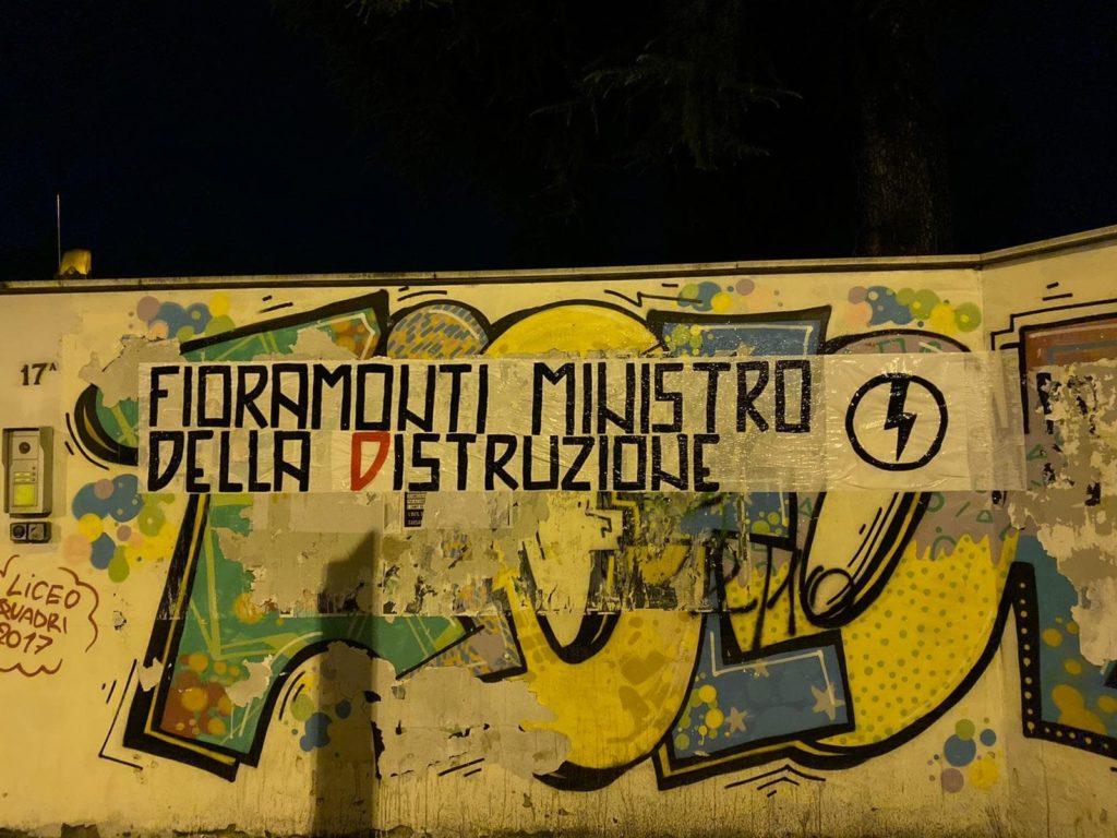 blocco studentesco azione contro ministro lorenzo finamonti greta ambiente distruzione vicenza