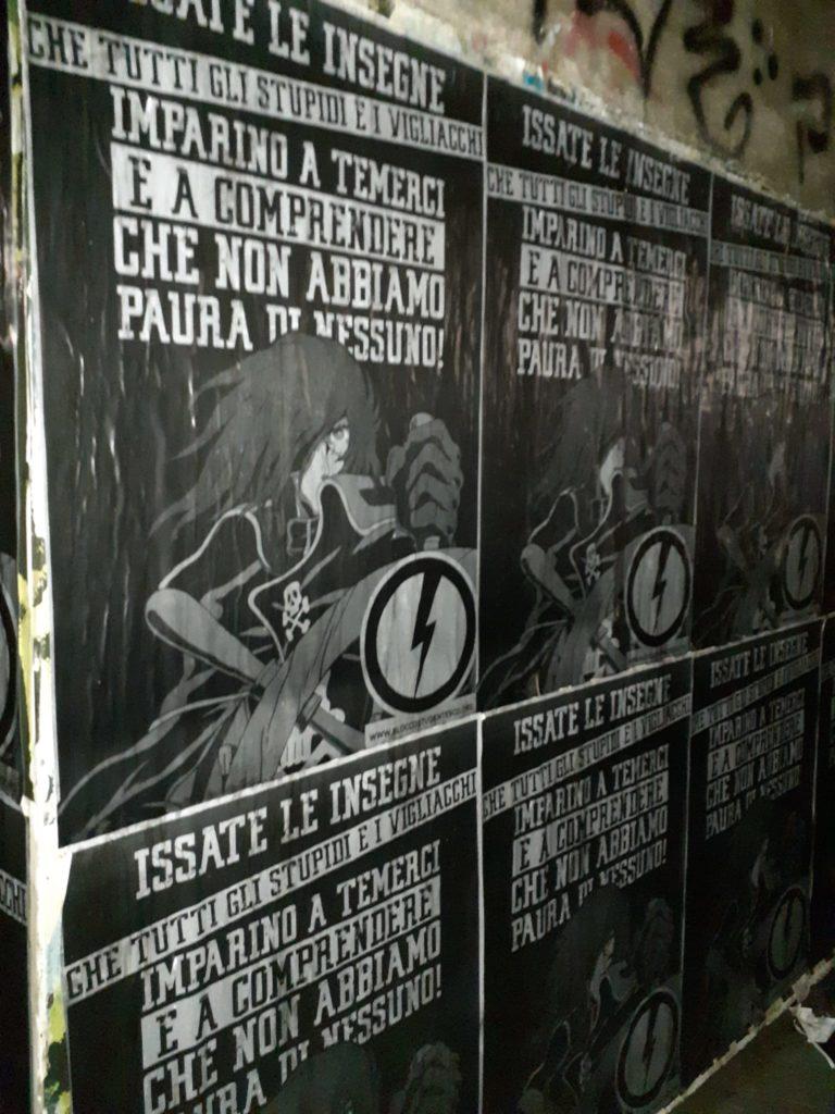blocco studentesco manifesti capitan harlock circolo futurista roma