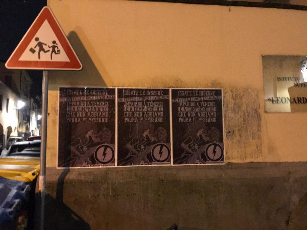 blocco studentesco manifesti capitan harlock Padova