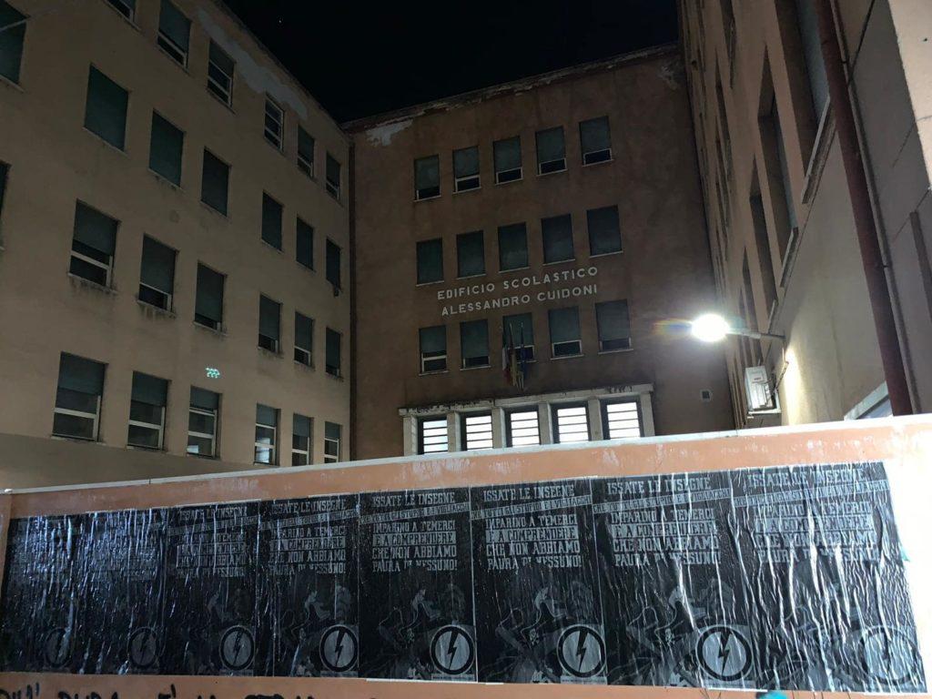 blocco studentesco manifesti capitan harlock roma nord