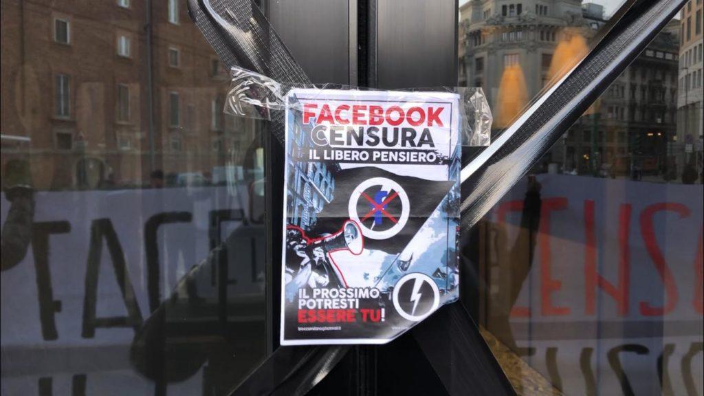 blocco studentesco milano blitz sede facebook censura pagine social 2