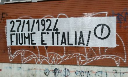 Blocco Studentesco Torino celebra l'annessione di Fiume all'Italia