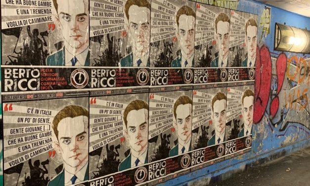Blocco Studentesco Novara: manifesti in memoria di Berto Ricci