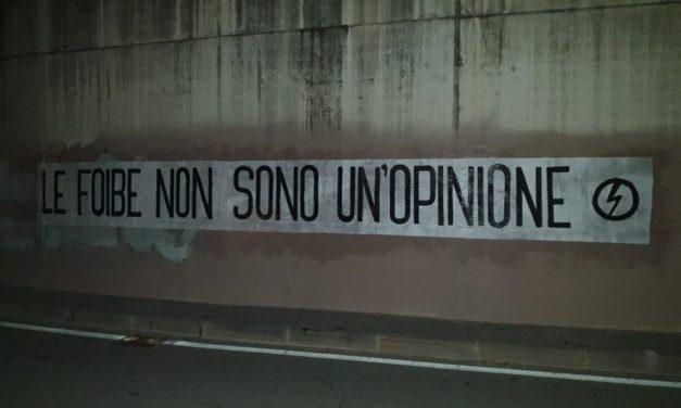 Blocco Studentesco Bolzano: striscione contro ANPI e negazionisti delle Foibe