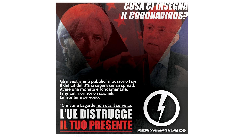 corona virus liberismo made in unione europea eu blocco studentesco