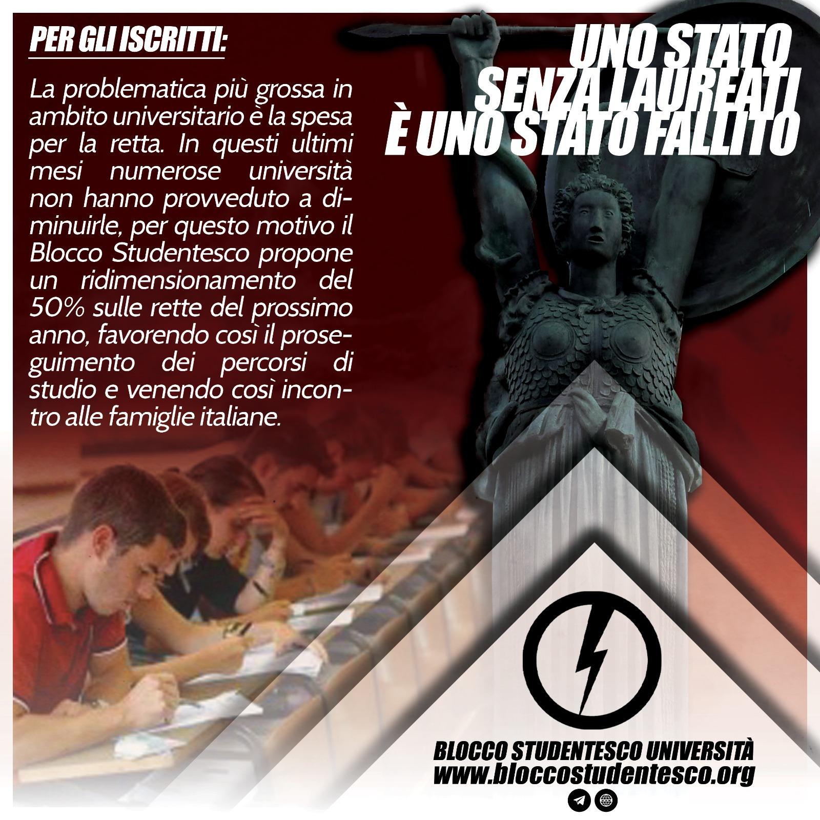 proposta agevolazioni iscritti blocco studentesco università covid 19