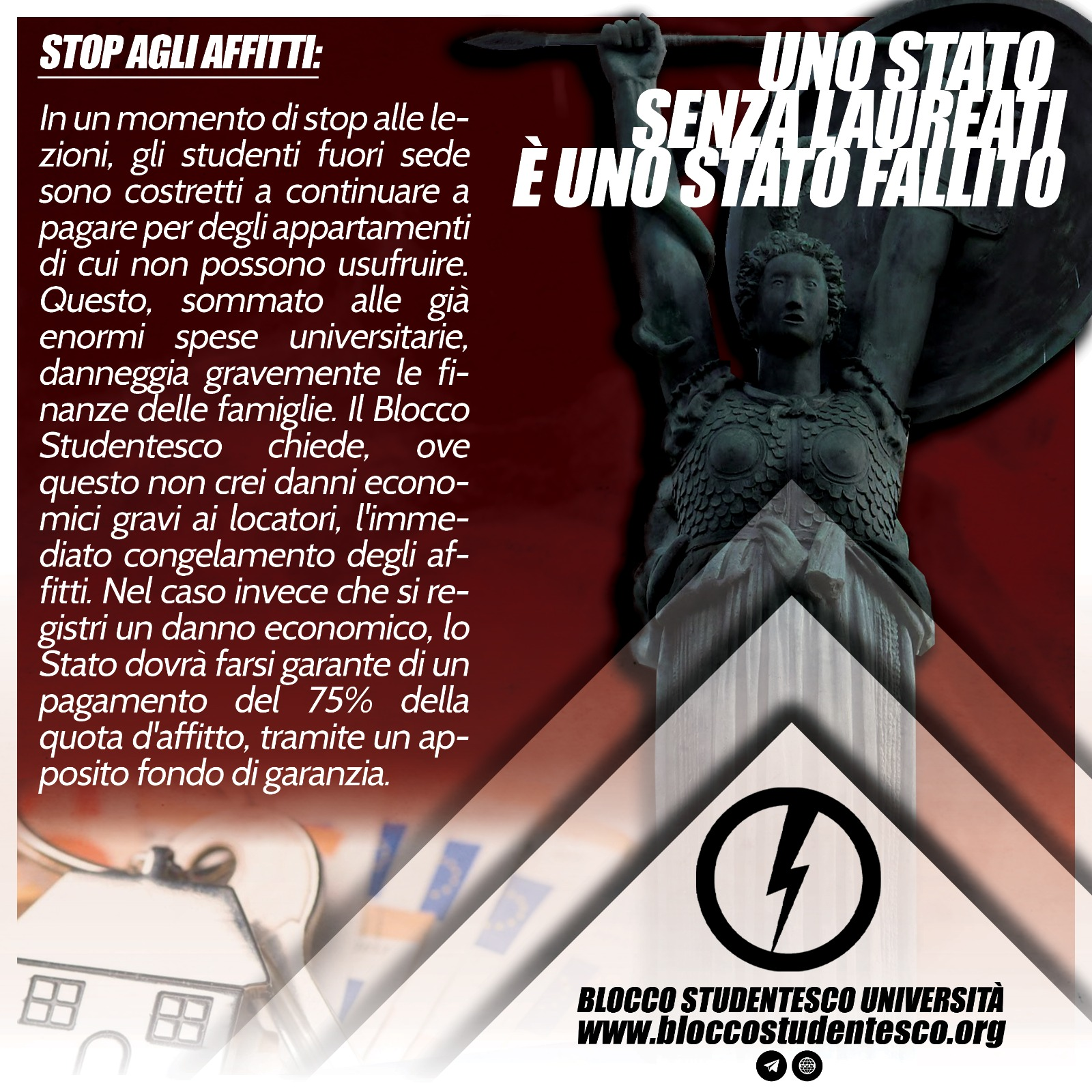 proposta stop affitti universitari blocco studentesco università covid 19