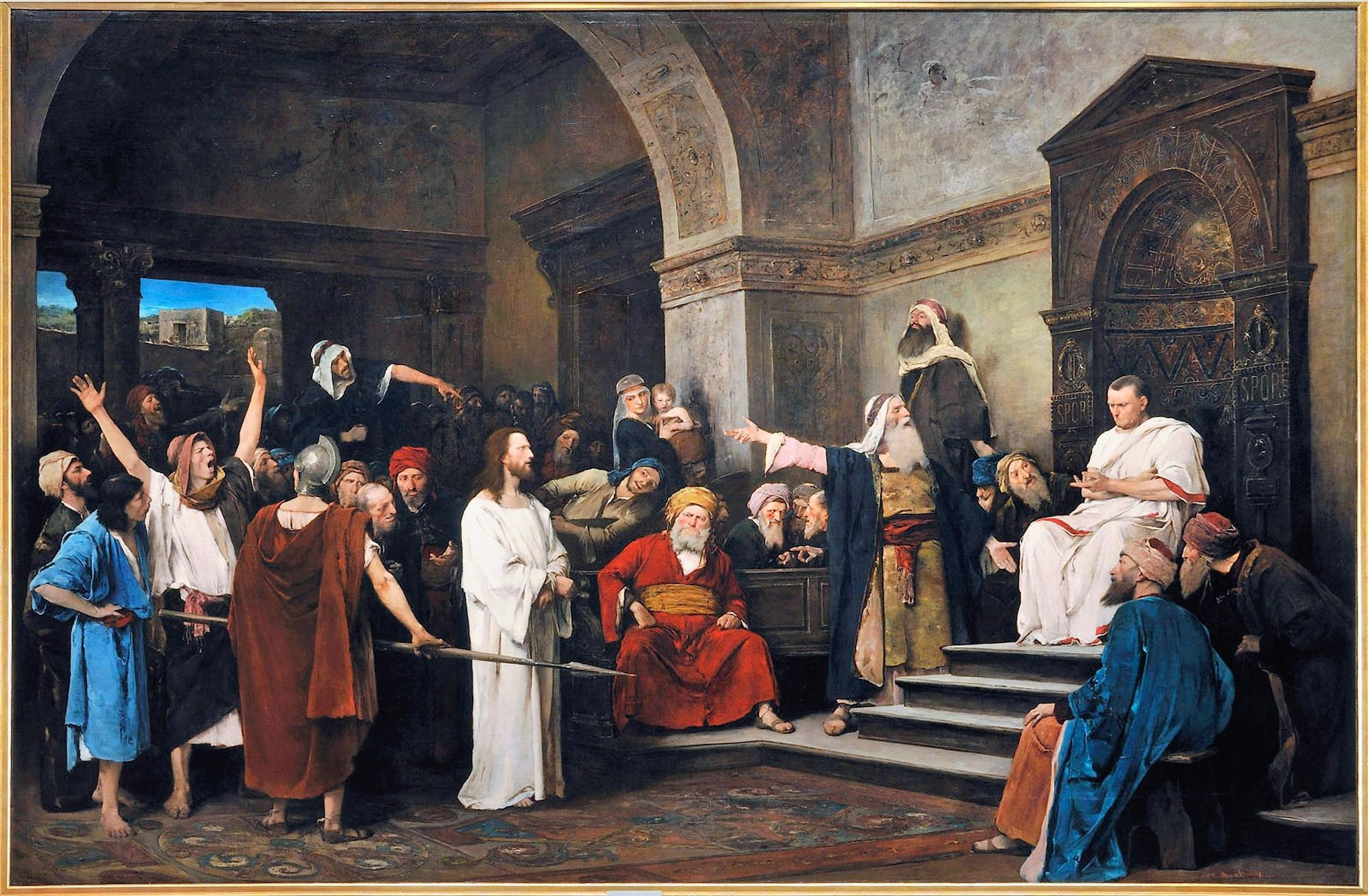 i romani ponzio pilato e gesù blocco studentesco