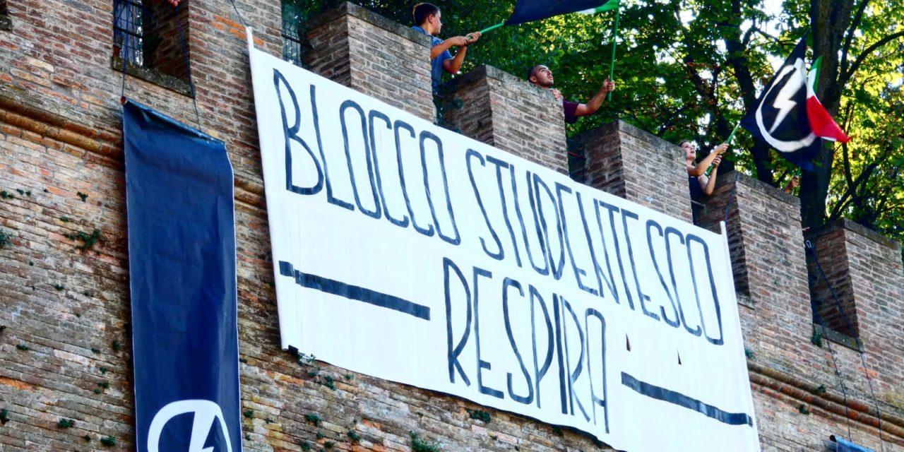 BLOCCO STUDENTESCO CESENA INAUGURA L'ANNO CON UN TEATRALE BLITZ DI FRONTE A PIAZZA DEL POPOLO