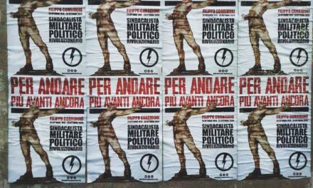 BLOCCO STUDENTESCO PIEMONTE: AFFISSI MANIFESTI PER RICORDARE LA MORTE DI FILIPPO CORRIDONI
