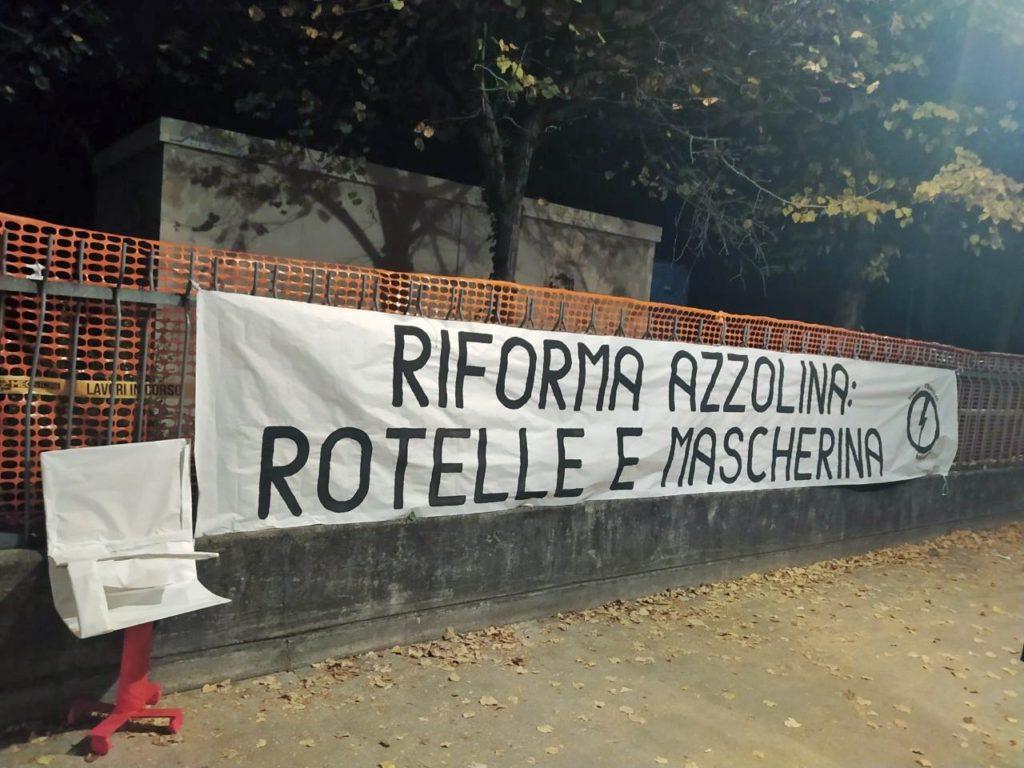 blocco studentesco pordenone 20 ottobre azzolina rotelle mascherina