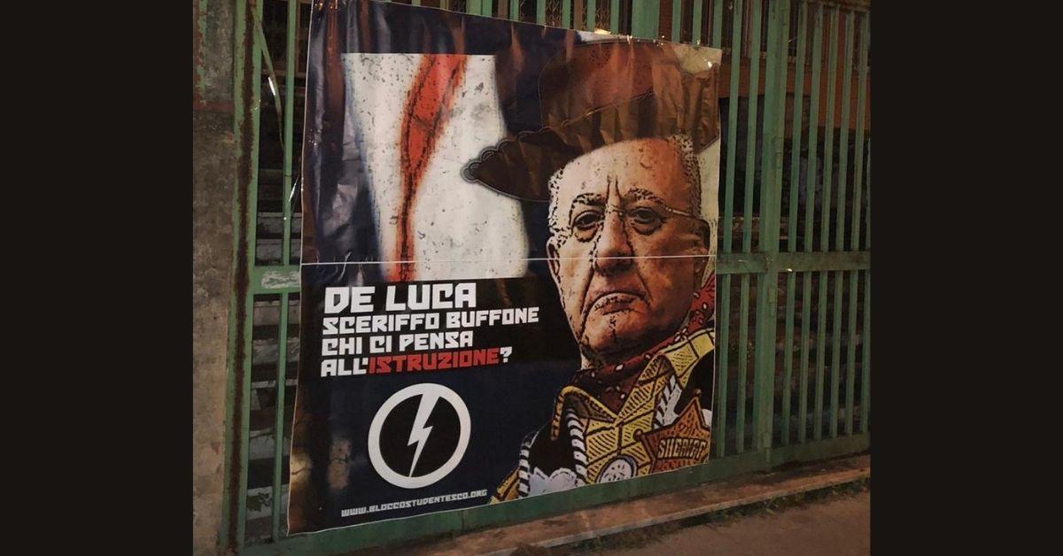 IL BLOCCO STUDENTESCO CAMPANIA CONTRO VINCENZO DE LUCA