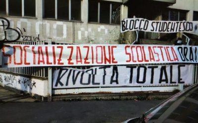 BLOCCO STUDENTESCO – SOCIALIZZAZIONE SCOLASTICA: RIFONDARE LA SCUOLA! CON GLI STUDENTI PER L'ITALIA
