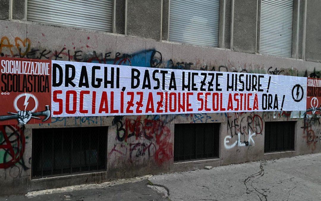 PIEMONTE: DRAGHI, BASTA MEZZE MISURE! SOCIALIZZAZIONE SCOLASTICA ORA!