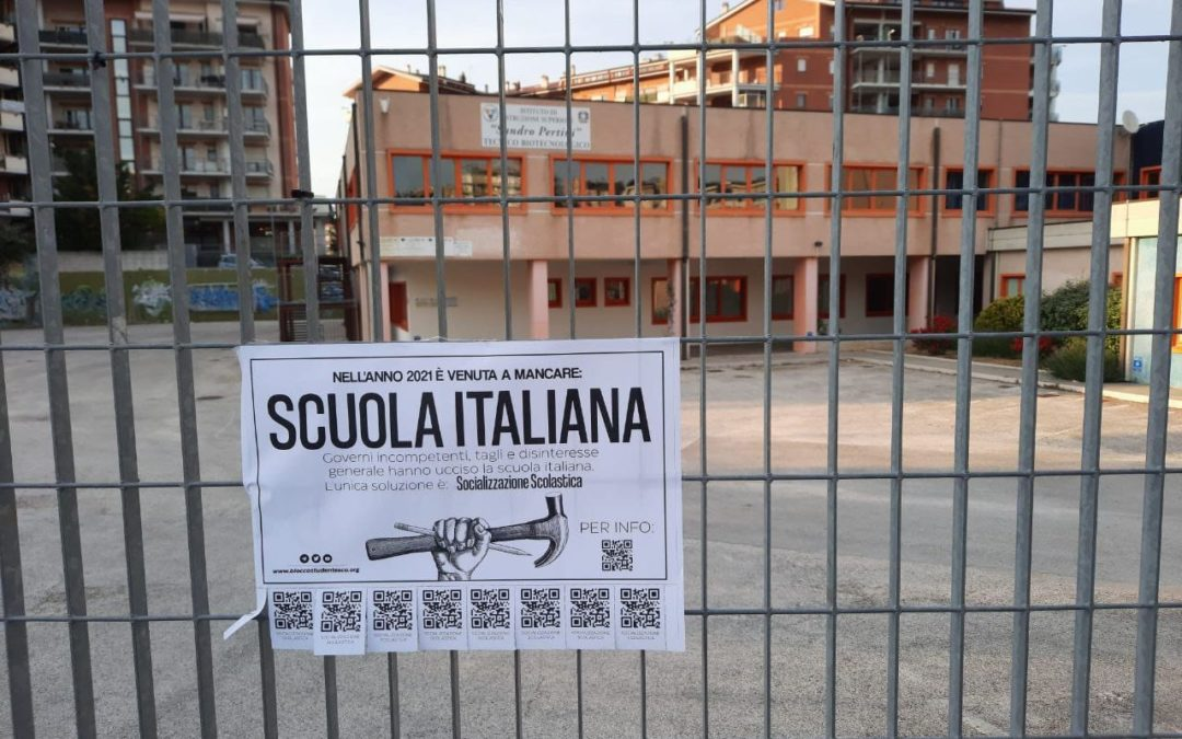 blocco studentesco campobasso morte scuola italiana