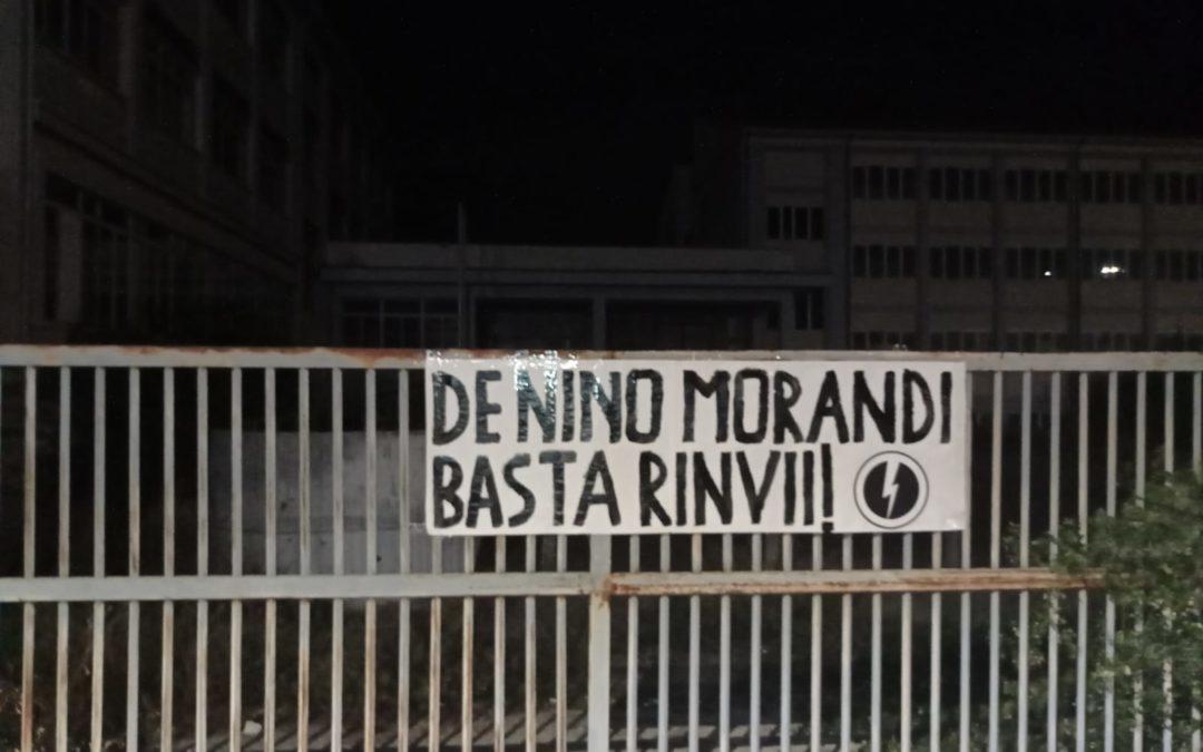 BLOCCO STUDENTESCO SULMONA PROTESTA CONTRO I CONTINUI RINVII DEI LAVORI ALL'ISTITUTO DE NINO MORANDI