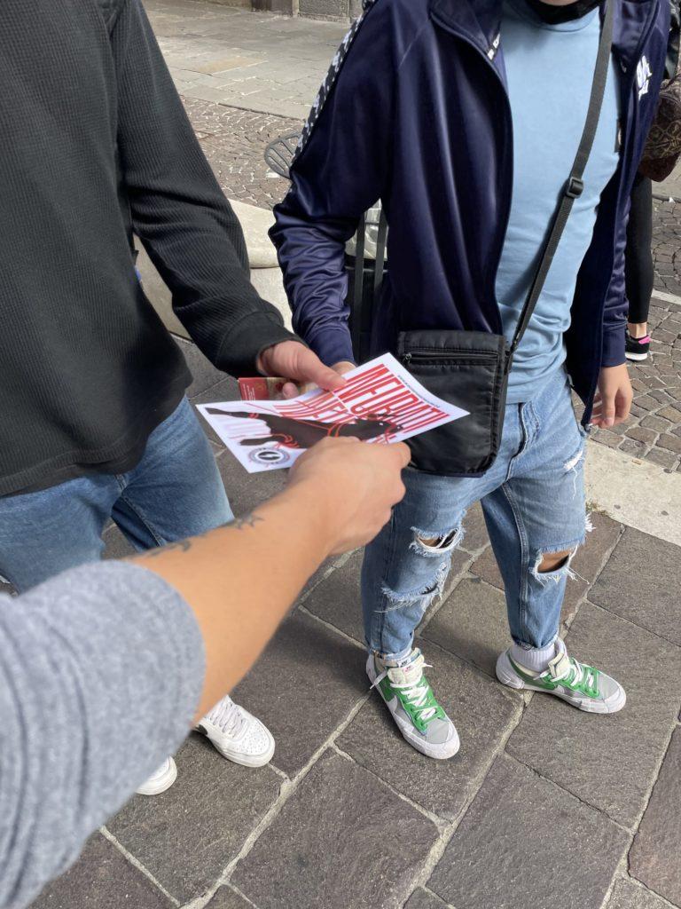 blocco studentesco 2 ottobre banchetto padova