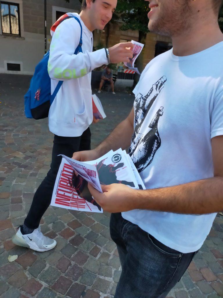 blocco studentesco 2 ottobre banchetto trento